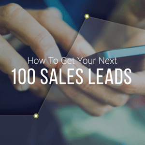 How to get your next 100 sales leads